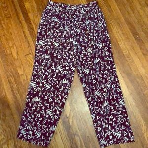 Handmade vintage high-waisted pants
